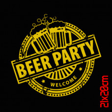 T SHIRT ΠΑΙΔΙΚΟ TAKEPOSITION, ECO SERIES, BEER PARTY, ΜΑΥΡΟ, 801-4005