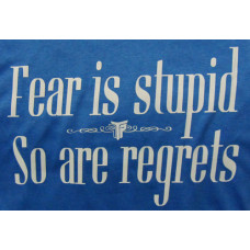 T SHIRT ΓΥΝΑΙΚΕΙΟ TAKE POSITION, FEAR IS STUPID, 6 ΧΡΩΜΑΤΑ, 504-5004