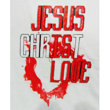 T-SHIRT ΑΝΔΡΙΚΟ 150GR, TAKEPOSITION, LOVE JESUS, 10 ΧΡΩΜΑΤΑ, 307-5010