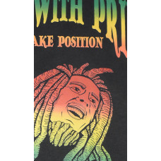 T-SHIRT ΑΝΔΡΙΚΟ TAKEPOSITION, BOB MARLEY, LIVE WITH PRIDE, 150GR, ΣΕ 17 ΧΡΩΜΑΤΑ, 307-7002
