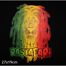 T SHIRT ΠΑΙΔΙΚΟ TAKEPOSITION, RASTAFARIA LION, ΜΑΥΡΟ, 801-7514